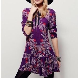 Free People 'Smooth Talker' Floral Print Tunic | M